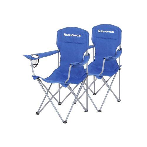 SONGMICS Campingstuhl 2er-Set blau