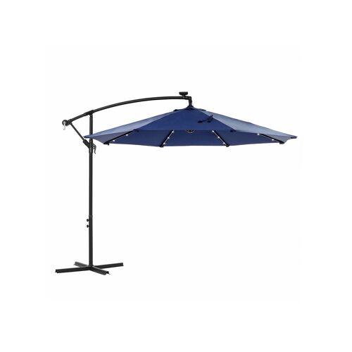 SONGMICS Sonnenschirm mit LED-Solar-Beleuchtung