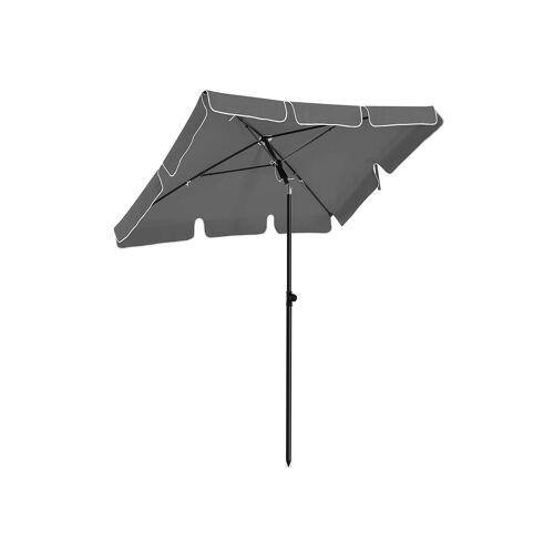 SONGMICS Sonnenschirm für Balkon grau