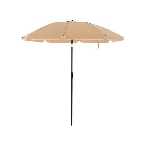 SONGMICS Sonnenschirm für Strand taupe