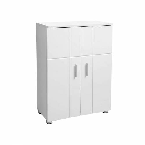 VASAGLE Badezimmerschrank Modern Weiß