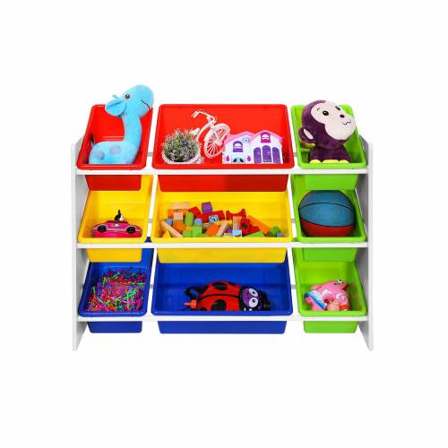 SONGMICS Farbenfrohes Kinderregal mit Kisten