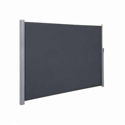 SONGMICS Seitenmarkise 160 x 400 cm grau