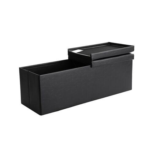 SONGMICS Klappdeckel-Sitzbank 110 cm Schwarz