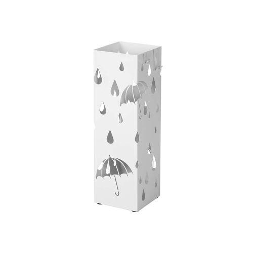SONGMICS Reizender Schirmständer Weiß