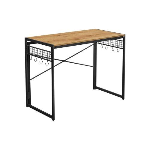 VASAGLE klappbarer Schreibtisch mit 8 Haken LWD042B05