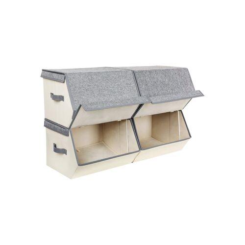 SONGMICS Aufbewahrungsboxen mit Metallrahmen
