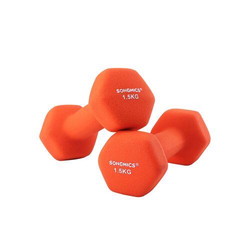 SONGMICS Hanteln 2 x 1,5 kg Orange