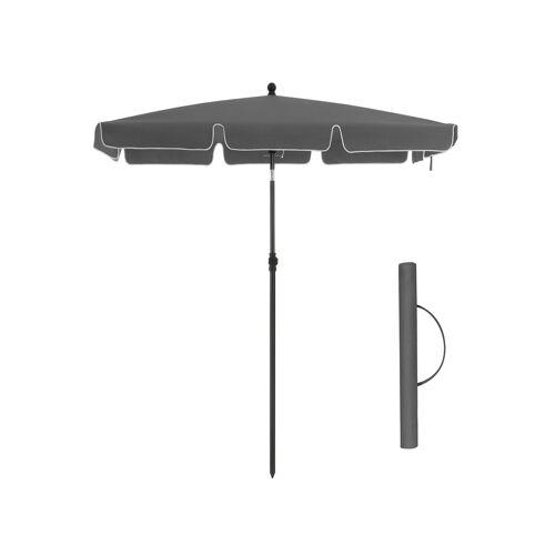 SONGMICS Sonnenschirm für Balkon 200 x 125 cm grau