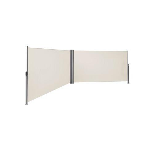 SONGMICS Doppelseitenmarkise 180 x 600 cm Beige