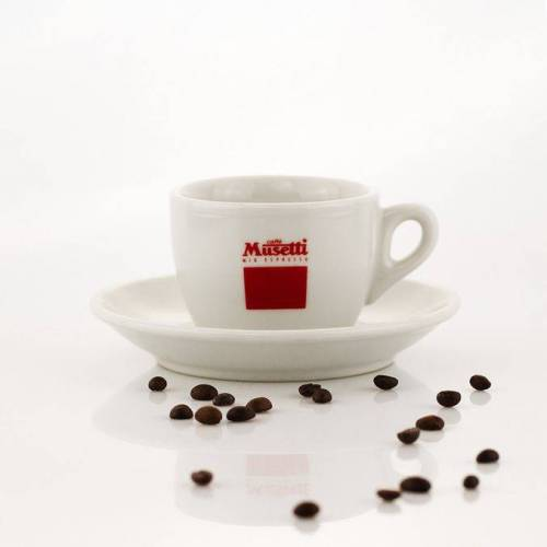 Musetti 6x Caffe Lungo Tassen mit Unterteller