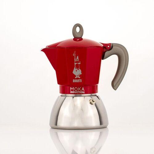 Bialetti Industrie S.p.A. Bialetti New Moka Red, für Induktion geeignet, 4 Tassen