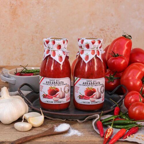 Mussini Sugo all'Arrabbiata - Tomatensauce mit Chili 250ml