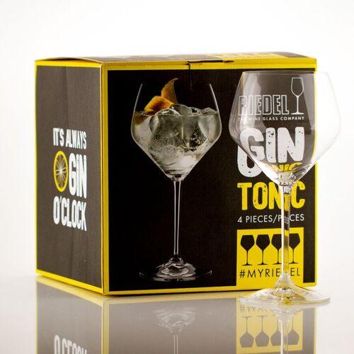 Gourmondo by Riedel Gourmondo Gin Tonic Gläser mit Stiel im 4er Set