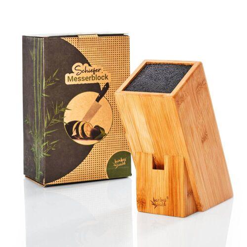 Bambuswald Messerblock aus Bambus mit Platz für ca. 6 Messer