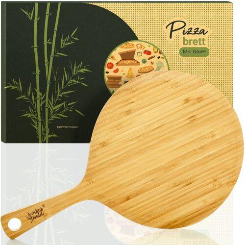Bambuswald Pizzabrett mit Griff
