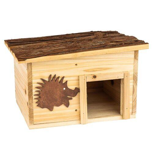 Skojig Winterfestes Igelhaus aus Holz ideal als Winterquartier
