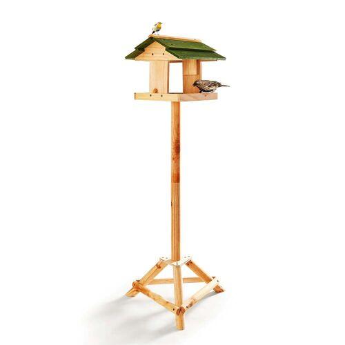 Skojig Bausatz für ein Vogelhaus mit Standfuß aus Naturholz