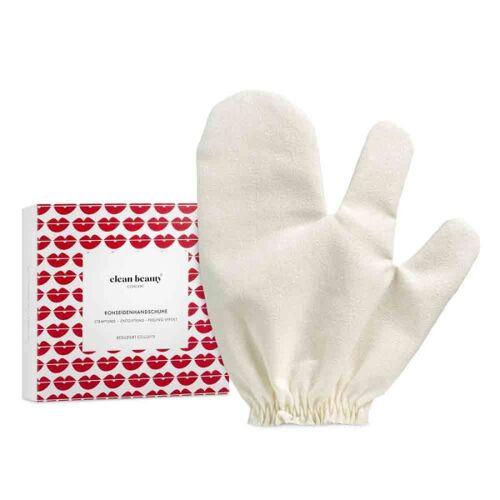 Clean Beauty Concept: Massage Handschuh  Rohseiden-Handschuh, 2 Stck.