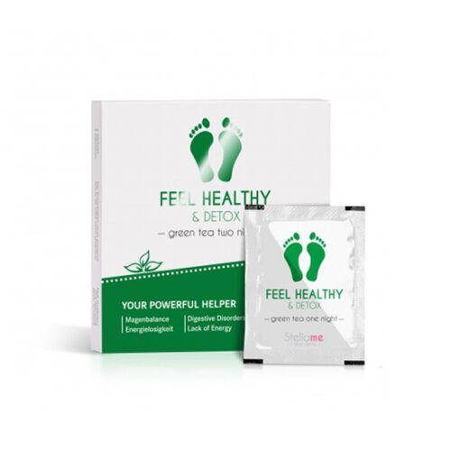 Stella Me: Detox Fußpads Feel Healthy & Detox Fußpads / Grüntee 2 night Detox, 4 Stck.