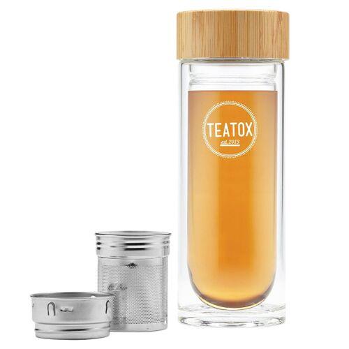TEATOX: Thermosflasche Thermo-Go Flasche Bambus, 330 ml