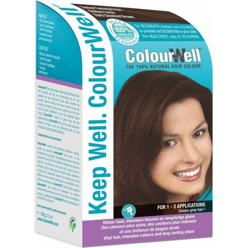 ColourWell Haarfarbe Dunkel Kastanienbraun - 100 g
