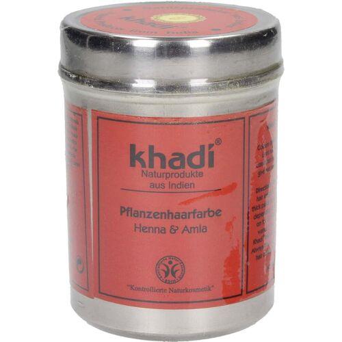 Khadi® Pflanzenhaarfarbe Henna & Amla, Metalldose - 150 g