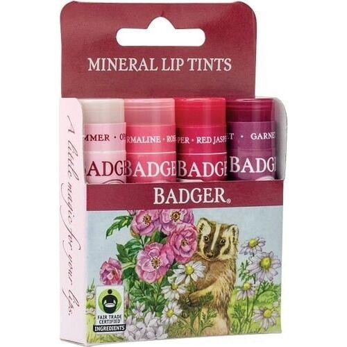 Badger Balm Mineral Lip tint 4-Pack - 1 Set