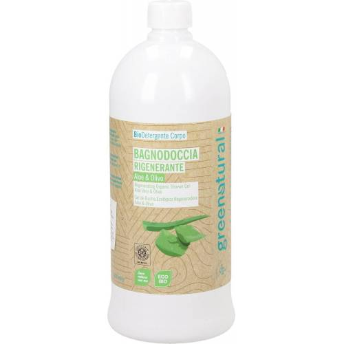 greenatural Duschgel Aloe Vera & Olive - 1 l