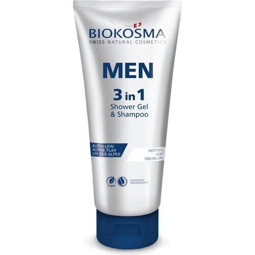 BIOKOSMA MEN - 3 in 1 Shower Gel & Shampoo - 200 ml