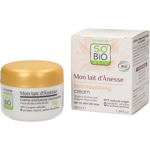 SO'Bio étic Eselsmilch Sanft Nährende Creme - 50 ml