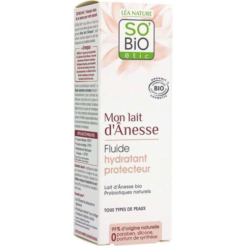 SO'Bio étic Eselsmilch Schützendes Fluid Tag - 50 ml