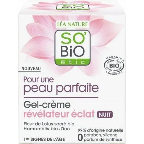 SO'Bio étic Nachtcreme-Gel - 50 ml
