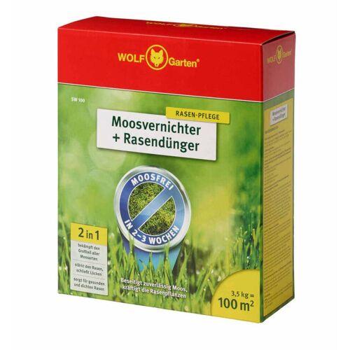 Wolf-Garten 2-In-1 Moosvernichter & Rasendünger - wirksam gegen stark vermoosten Rasen