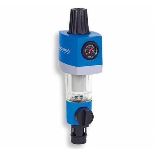 Buderus Logafix Rückspülfilter mit Druckminderer Wasserfilter Hauswasserstation Honeywell