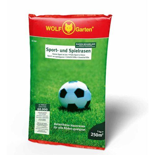 Wolf-Garten Saatgut Sport- & Spielrasen - Strapazierfähiger Rasen, Robust und Günstig, Rasensamen