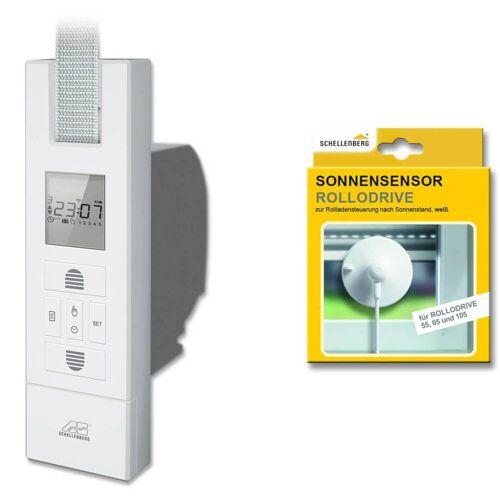 Schellenberg ROLLODRIVE 65 Plus Maxi elektrischer Gurtwickler max 6 m² Fläche inkl Sonnensensor