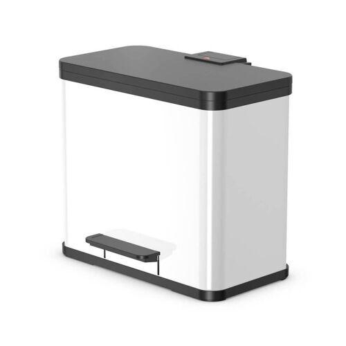 Hailo Tret-Mülleimer Eco Duo L, weiß, 2 x 14 l, 2-fach-Mülltrennung