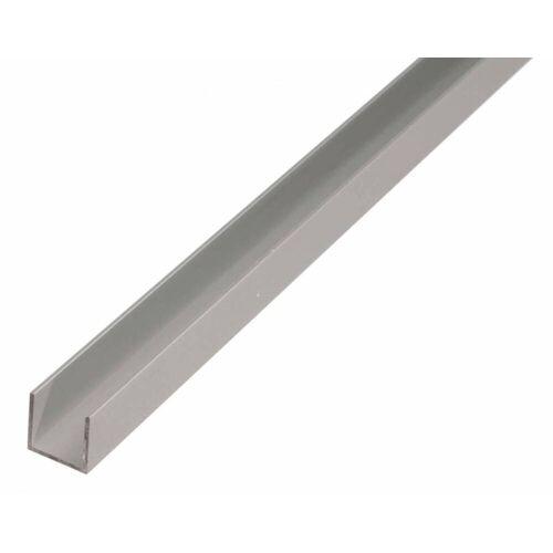 GAH Alberts GAH 1 m U-Profil zum Klemmen 24 x 24,6 x 24 x 1,8 mm Silber Alu, klemmbar