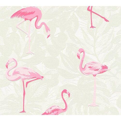 AS Creation Vliestapete Flamingo, Creme-Pink, Tapete  Boys & Girls 6