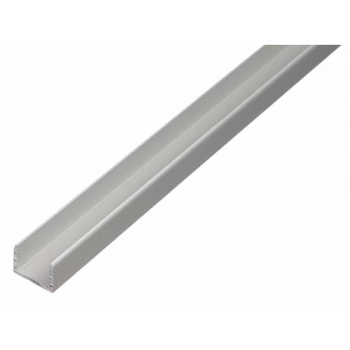 GAH Alberts GAH 2 m U-Profil zum Klemmen 15 x 19,9 x 15 x 2 mm Silber Alu, klemmbar