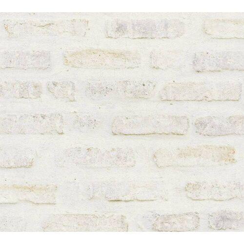 AS Creation Tapete  Steinoptik Rot Weiß Grau  New Walls