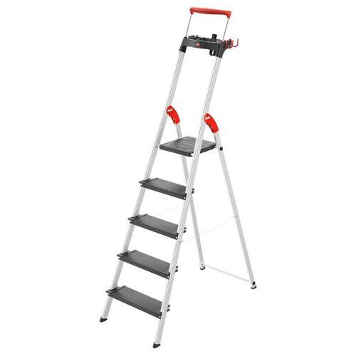 Hailo Alu-Sicherheits-Stehleiter  3 bis 8 Stufen  L100 TopLine  mit Plattformverriegelung