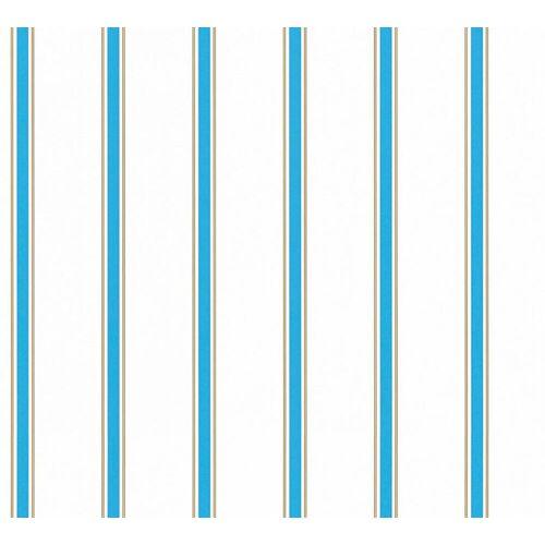 Esprit Kids Papiertapete Streifen, Blau-Weiß, Kinder-Tapete, 358312
