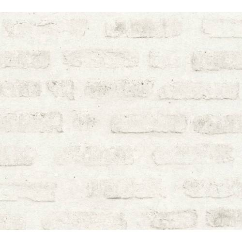 AS Creation Tapete  Steinoptik Weiß Grau  New Walls
