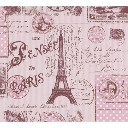 AS Creation Tapete  Ausgefallene Tapete Paris  Braun Rot Lila
