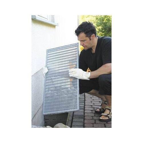 Schellenberg Lichtschacht Edelstahlgewebe, 50 x 125 cm  Lichtschacht-Insektenschutz
