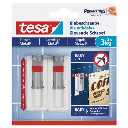 tesa SE tesa® Klebeschraube verstellbar  Fliesen & Metall  3 kg