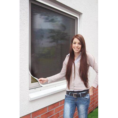 Schellenberg Magnetrahmen für Fenster  Magnetisches Fliegengitter  120cm x 100cm  Weiß & Anthrazi