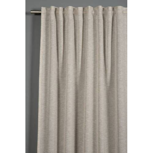 Gardinia Voil Uni Schal mit Gardinenband, 140 x 245 cm, beige